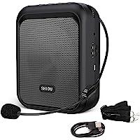 SHIDU Sprachverstärker Tragbarer wiederaufladbarer Bluetooth-Lautsprecher mit kabelgebundenem Mikrofon-Headset 10W…
