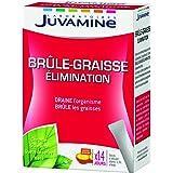 JUVAMINE - Brûle-Graisse Elimination - A base de Chrome, Guarana, Queue de Cerise et Maté - 14 Sticks Minceur