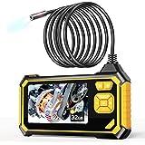 Endoscope Industriel, YINAMA Endoscope Numérique Semi-rigide HD, écran LCD étanche 4,3 Pouces, Caméra d'Inspection, Avec 6 lu