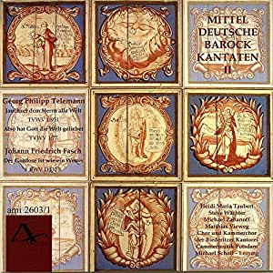Telemann - Fasch : Cantates Baroques Allemandes