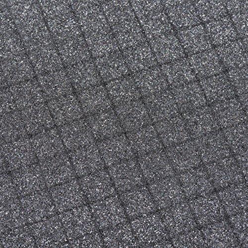 AluPlus Foam 44/2 Schaumstoff-Set, 2-teilig,Noppen- und Würfelschaum - 2
