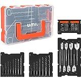 Amazon Brand - Umi Bohrer und Schrauber Set, 55tlg, für Holz-, Metall-, Zementbohrungen und Schraubenantriebe, mit Kunststoff