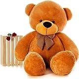 HUG 'n' FEEL SOFT TOYS Long Soft Lovable hugable Cute Giant Life Size Teddy Bear (4 Feet, Brown)