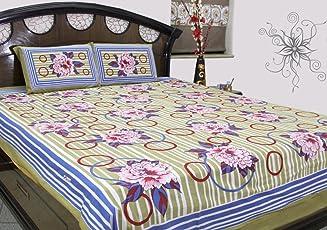 SheetKart Floral Printed Bedsheet