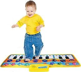 DUODE Klaviermatte Spielzeug-Riesige Bunte Tanzfläche-Kinder Tastatur mit 17 Tasten -geignet als Geschenk- Faltende Spielzeug