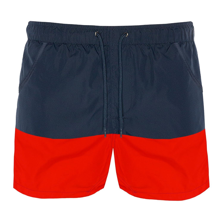 b97cddf81c Mens Brave Soul Designer Cut And Sew Block Swim Trunks: Amazon.co.uk:  Clothing