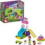 LEGO 41396 Friends Hondenspeelplaats Bouwset met Mia Poppetje, 2 hondenfiguren, een Glijbaan en Draaimolen voor Kleuters