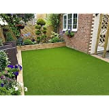 Eurotex Artificial Grass Carpet Mat for Covering Balcony, Lawn, Door (PE & PP, Size 6.5x2 Feet, 25mm 4-Tone Green Color)