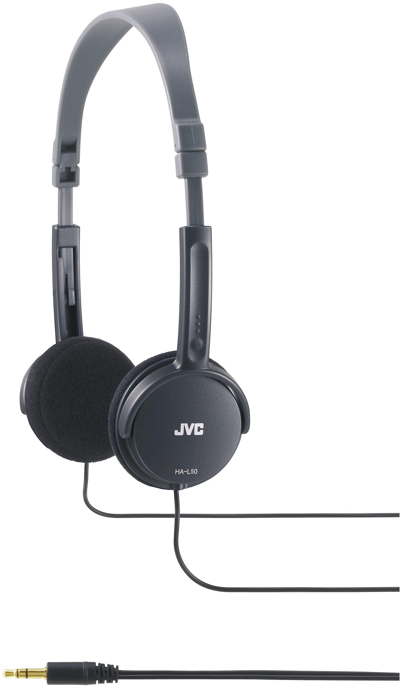 JVC Lightweight Headphones – Black