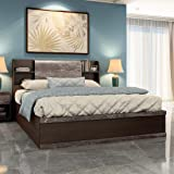 Durian Morris King Size Engineered Wood Bed with Hydraulic Storage  Smoke Oak