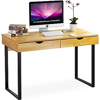 Perfekt Tribesigns Schreibtisch Mit Schubladen, Moderner Bürotisch Computertisch  Arbeitstisch PC Tisch Für Home Office Arbeitzimmer Kinderzimmer