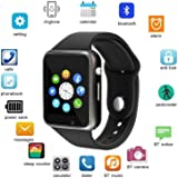 HUG PUPPY A1 Sim Card Smart Watch with Camera Bluetooth Smartwatch Compatible Men and Women