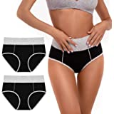 SINOPHANT Ladies Cotton Knickers High Waisted Knickers for Women, Full Back Coverage Womens Underwear Multipack