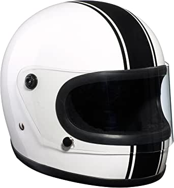 Bandit Helmets Integral Helm,Retrohelm,70er Jahre,Youngtimer,Motorrad, Sports-Farbe:white black, Größe:M(57/58)