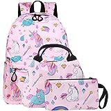 Einhorn Rucksack Kinderrucksack Mädchen Reisen Einhorn Freizeit Rucksack Wasserdicht Schüler Süßes Muster Schule Bücher Tasch