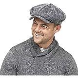 HeatGuard, berretto invernale da uomo, con fodera termica Thinsulate, colore grigio a spina di pesce