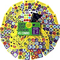 675 Scratch and Sniff Stickers For Kids & Teachers Mega Variety Pack by Purple Ladybug Novelty, with 15 Different Scented Sticker Intense Smells, Awesome Reward Stickers for Children!