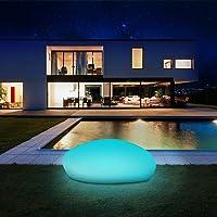 Solarlampen für außen, infray Solarleuchten für außen, Solar Gartenleuchten 40cm Solarkugel Garten mit 9 Modi, IP67…