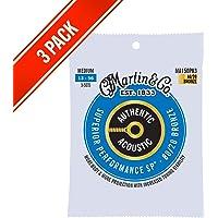 Martin MA150PK3 Authentic Acoustic - SP - 80/20 Bronze 3 Pack Medium ( 13-56 )