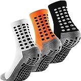 Arnech Anti-slip Sport Socks, Anti Blister Aheletic Socks for Men, Non-slip Rubber Grip Cushion Soccer Sock for Football, Bas