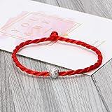 Youliy Kabbalah, braccialetto in corda rossa buddista, fatto a mano, con nodo fortunato per donna, uomo e uomo, porta fortuna