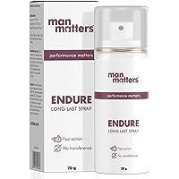 Man Matters Endure Long Last Spray for Men | Safe & Effective | Pack of 1 | 20 grams