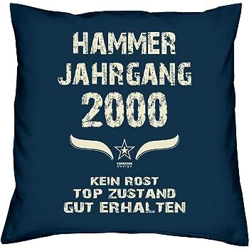 Hammer Jahrgang 2000 Spruche Kissen 40x40 Fur Die Ganze Familie