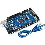 ELEGOO Mega de 2560 R3 Tarjeta Placa Compatible con Arduino IDE con Microcontrolador Basada en el Mega con USB Cable Azul Ver