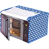 Amazon Brand - Solimo PVC 30 Litre Microwave Oven Cover, Polka, Blue