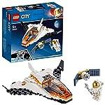 LEGO City Space Port - Misión: Reparar el Satélite, set de Construcción Inspirado en la NASA con Mini Lanzadera Espacial...