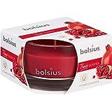 BOLSIUS True MOODS & TRUE SCENTS geurkaars in glas, granaatappel, was, rood, S