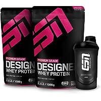 ESN Designer Whey Protein – 2x1000g + Gratis ESN Shaker – Bluberry Cheesecake – Eiweißpulver reich an essentiellen…