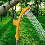WOLFWILL Portable Camping Shower, Compact Camping Showerhead with 2m Hose, Adjustable Hook, 5m Car Charger Power Cable…