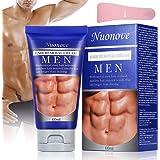 Haarentfernungscreme Enthaarungscreme Männer, Enthaarungsmittel, Hair Removal Cream Schnell und Einfach Haarentfernung, Lässt die Haut sanft, PLUS 1 Kunststoffschaber, 60ml