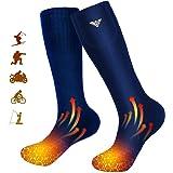 Calcetines Calefactables Hombres y Mujeres,Calcetines Calefactables Eléctricos,Calcetines A Batería para Acampar/Pescar/Andar
