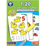 Orchard Toys 1-20 Sticker Colouring Book - Educational Colouring Book - Trace and Write Numbers 1-20 - 4 Years +
