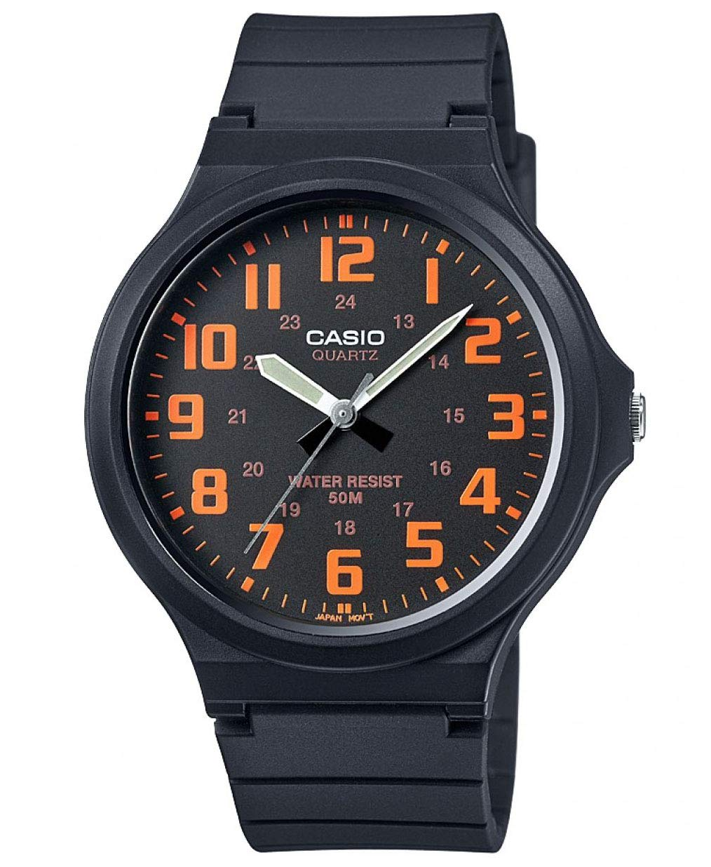 Casio Men's Watch in Resin/Acrylic Glass with Neo Display & Buckle – Water Resistant to 50 m