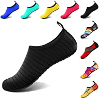 VIFUUR Womens Mens Water Sports Shoes Adjustable Mesh Aqua Barefoot Yoga Socks for Oudoor Swimming Beach Surfing