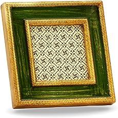 Avola Cornice in Legno Realizzata a Mano da Artigiani Toscani, 13x13x2 cm
