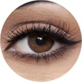Anesthesia Addict Marron Unisex Contact Lenses, Anesthesia Cosmetic Contact Lenses, 6 Months Disposable - Addict Marron (Dark