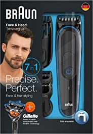 Braun multi grooming kit MGK3045 – 7-in-one face and body trimming kit.