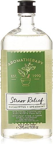 Bath & Body Works Aromatherapy Stress Relief Eucalyptus Tangerine Body Wash, 295 ml