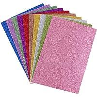 Lot de 10 feuilles A4 en mousse EVA pailletées de 2 mm pour loisirs créatifs et scrapbooking, Mélange de couleurs…