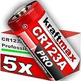 5er Pack CR123 / CR123A Lithium Hochleistungs- Batterie für professionelle Anwendungen - Neueste Generation