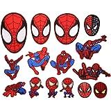 CYWQ 15stks Spiderman Iron on Patches patch Stickers Geborduurd Applique voor Jeans jassen, kleding, handtas, schoenen, caps
