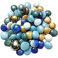 Maalavya 2 Kg Glass Pebbles (Multicolour)