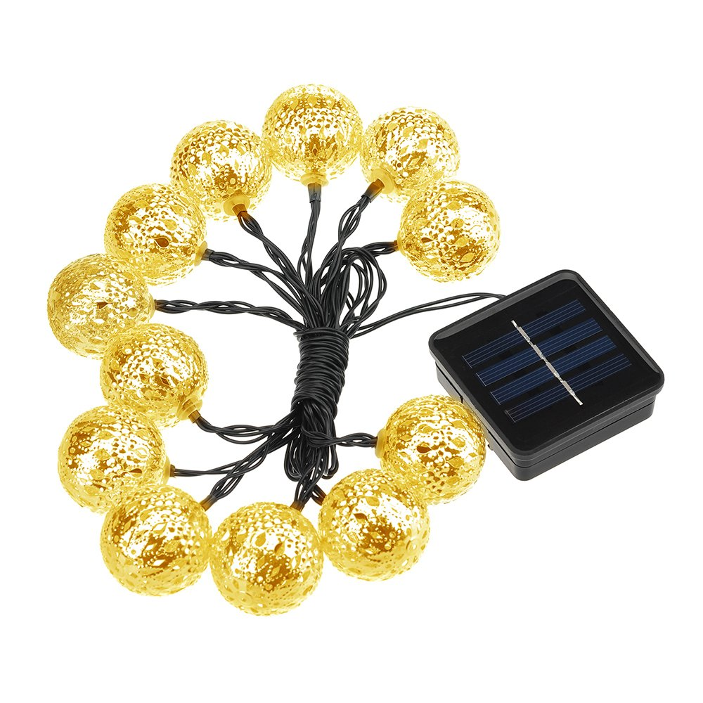 Best Quality Solar String Lights : Summer Solar String Lights, TopElek 12 LED Outdoor Globe Lights 15.9ft Solar Pow eBay