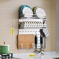 scaffale di stoccaggio della Cucina del pavimentoCremagliera del Forno a microonde Multi-Strato e Multifunzione ZHAS Scaffale del Forno a microonde del Metallo Scaffale del Forno Dimensioni: 50