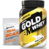 Bigmuscles Nutrition Premium Gold Whey 1Kg [Vanilla Crème] | Whey Protein Isolate & Whey Protein Concentrate | 25g Protein P
