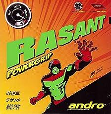 Andro Rasant PowerGrip 2.1 mm Table Tennis Rubber (Black)